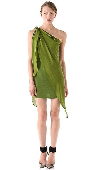 Donna Karan New York One Shoulder Draped Tunic