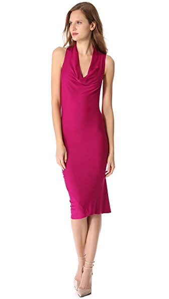 Donna Karan New York Draped Cowl Tunic Dress