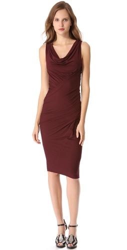 Donna Karan New York Sleeveless Draped Jersey Dress
