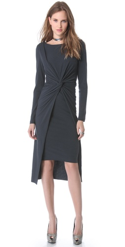 Donna Karan New York Cross Drape Knot Dress at Shopbop / East Dane