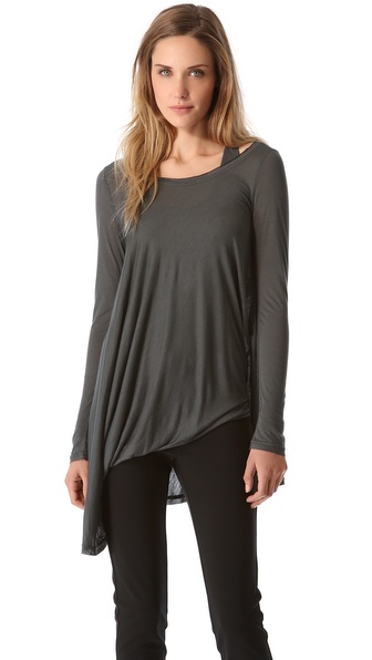 Donna Karan New York Layered Twist Tunic