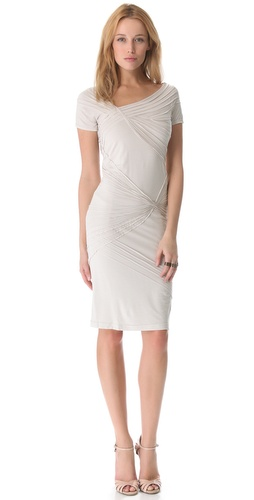 Donna Karan New York Short Sleeve Banded Dress