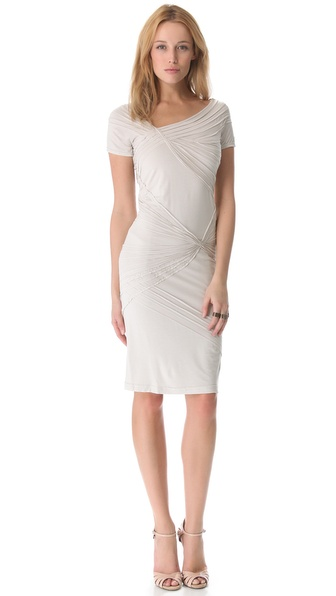 Donna Karan New York Short Sleeve Banded Dress