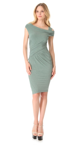 Donna Karan New York Asymmetrical One Shoulder Dress