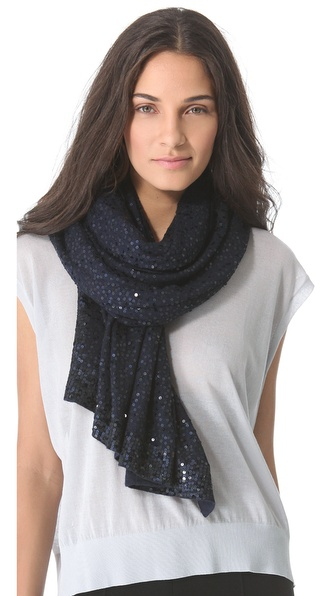 Donna Karan New York Sequined Cashmere Scarf