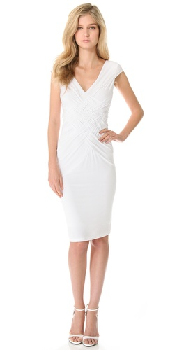 Donna Karan New York Woven Bodice Gown