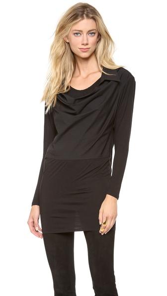 Donna Karan New York Long Sleeve Jersey Tunic