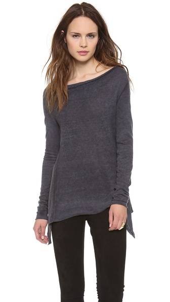Donna Karan New York Cashmere Drape Front Sweater