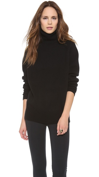 Donna Karan New York Long Sleeve Turtleneck Sweater
