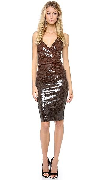 Donna Karan New York Plunge Sequin Cocktail Dress
