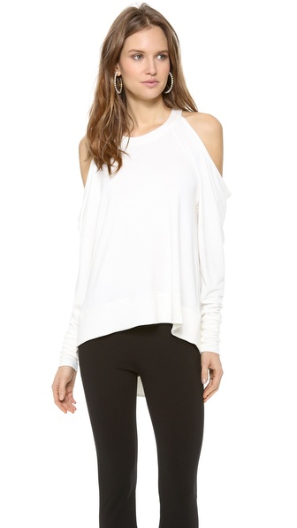 Donna Karan New York Cold Shoulder Pullover