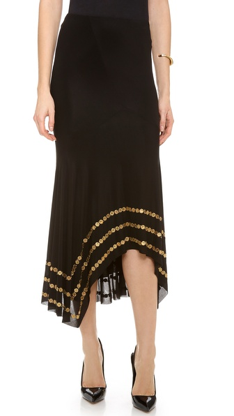 Donna Karan New York Coin Embellished Slip Skirt