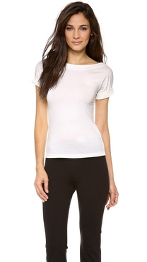 Donna Karan New York Rolled Sleeve Tee