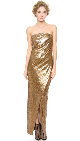Donna Karan New York Strapless Twist Evening Dress