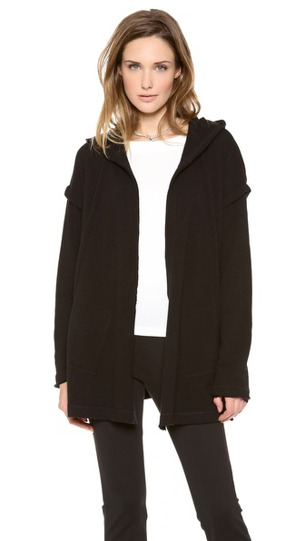 Donna Karan New York Hooded Draped Cardigan