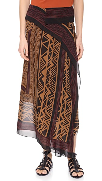 Donna Karan New York Printed Scarf Skirt