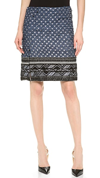 Donna Karan New York Beaded Scissor Skirt