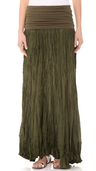 Donna Karan New York Fold Over Maxi Skirt