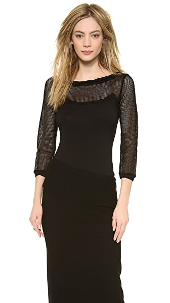 Donna Karan New York 3/4 Sleeve Top