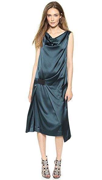 Donna Karan New York Sleeveless Dress with Elastic Detail