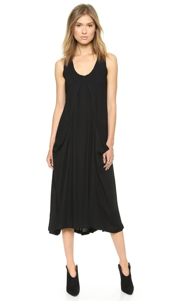 Donna Karan New York Sleeveless Dress with Draped Pocket