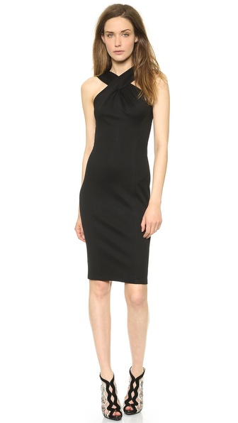 Donna Karan New York Cross Drape Sheath Dress