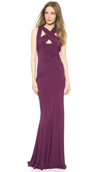 Donna Karan New York Draped Cross Front Gown