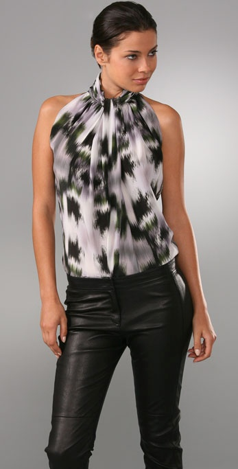 Derek Lam Drape Neck Sleeveless Blouse