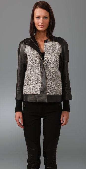 Derek Lam Haircalf Jacket with Vintage Leather Sleeves