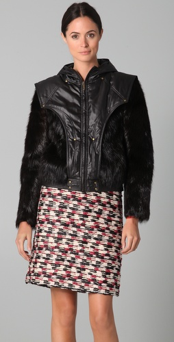 Derek Lam Fur Bomber Jacket