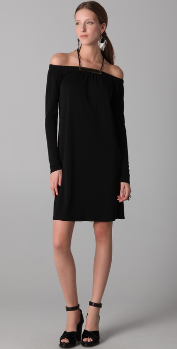 Derek Lam Long Sleeve Halter Dress