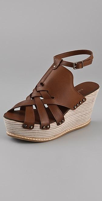 Derek Lam Martritte Woven Ankle Strap Platforms