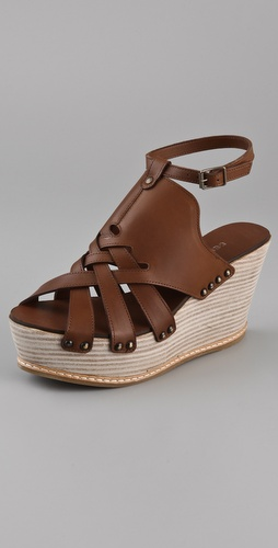 Derek Lam Martritte Woven Ankle Strap Platforms