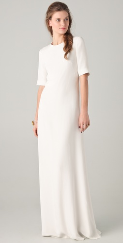 Derek Lam Gown with Embroidered Inset