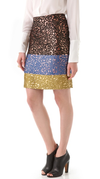 Derek Lam Printed Skirt