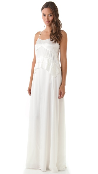Derek Lam Spaghetti Strap Gown