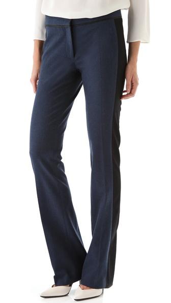Derek Lam Black Stripe Trousers