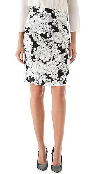 Derek Lam Paisley Jacquard Pencil Skirt