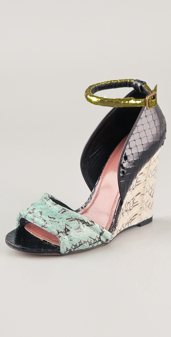 Derek Lam Bristol Open Toe Wedge Sandals