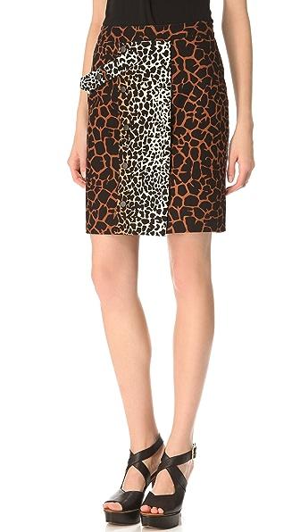 Derek Lam Giraffe Print Utility Skirt