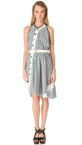Derek Lam Floral Asymmetrical Dress