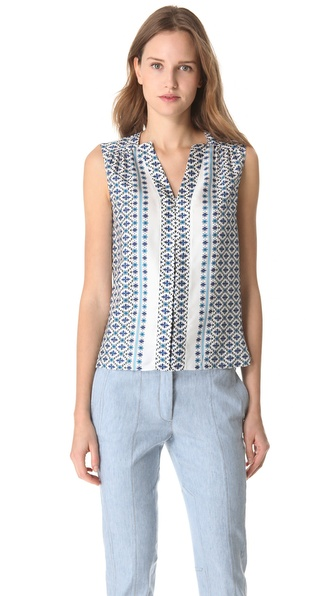 Derek Lam Floral Sleeveless Blouse