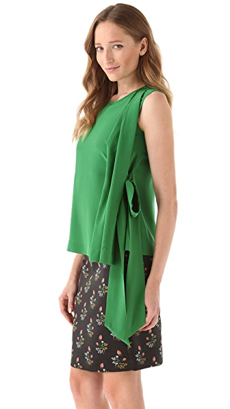 Derek Lam Sleeveless Blouse with Tie
