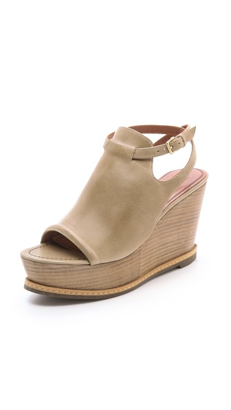 Derek Lam Malta Wood Wedge Sandals