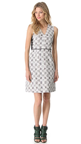 Derek Lam Lace Up Sleeveless Dress