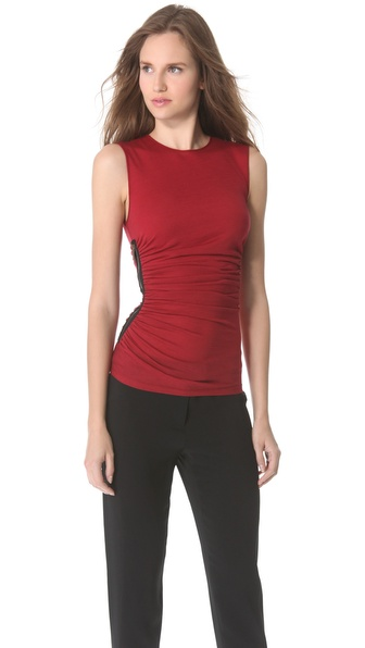 Derek Lam Gathered Side Zip Tank