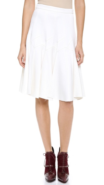 Derek Lam Satin Skirt with Pleats