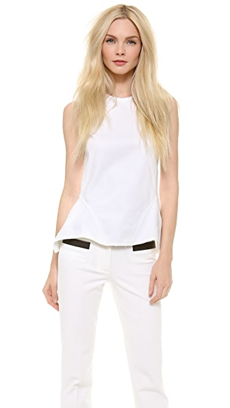Derek Lam Peplum Top with Exposed Zip