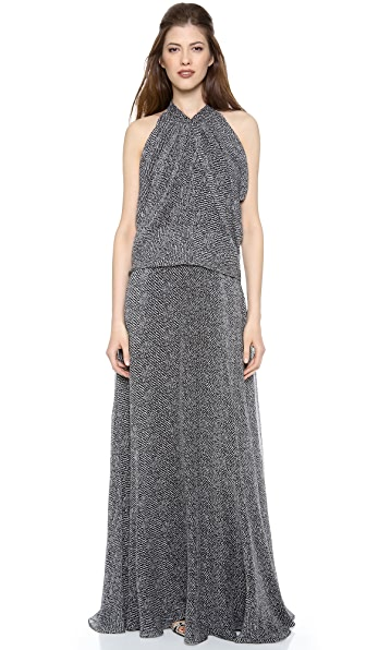 Derek Lam Gathered Neck Gown