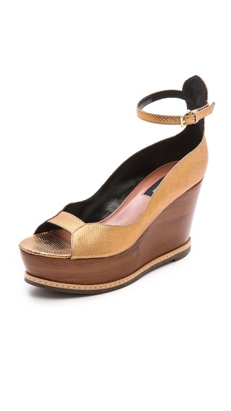Derek Lam Manhattan Snake Embossed Wedges